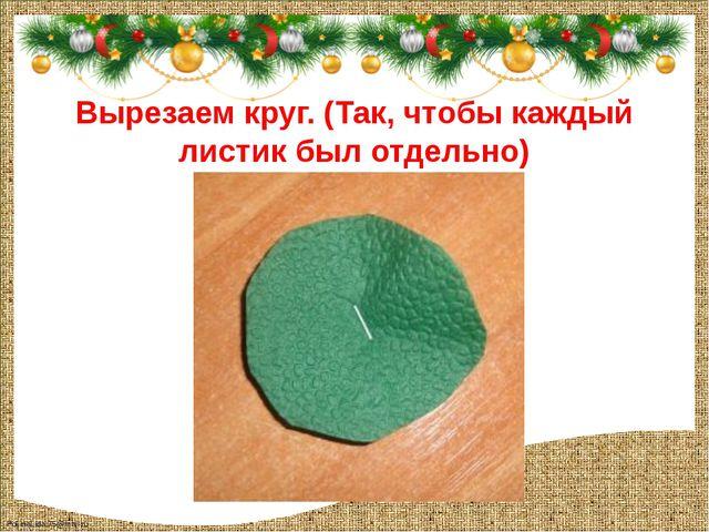 Вырезаем круг. (Так, чтобы каждый листик был отдельно) FokinaLida.75@mail.ru
