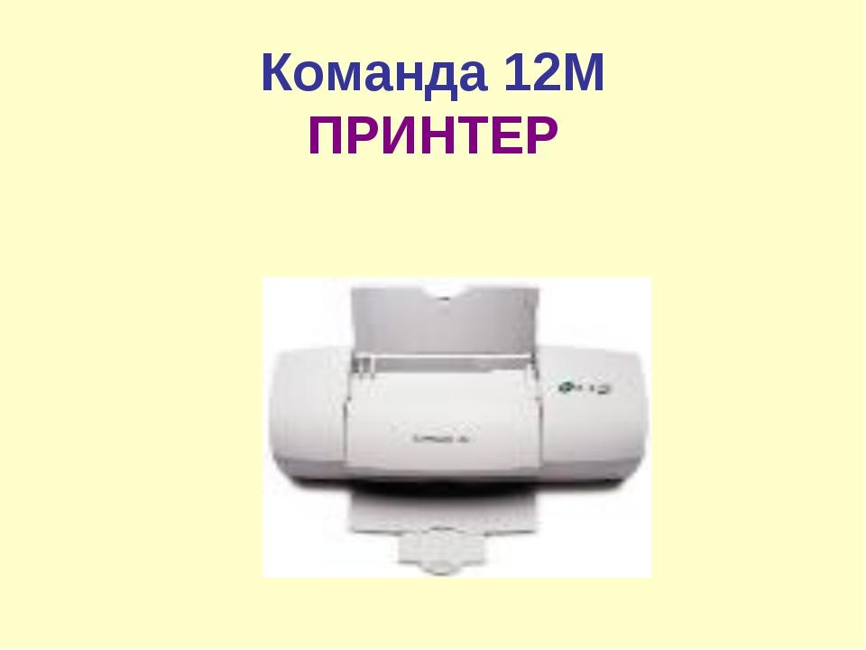 Команда 12М ПРИНТЕР