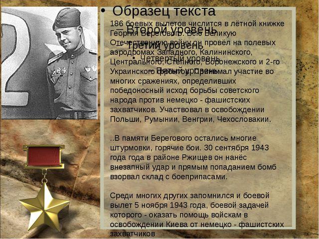186 боевых вылетов числится в лётной книжке Георгия Берегового. Всю Великую...