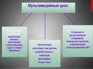 Мультимедийные сценарии уроков или фрагментов уроков  По сравнению с т