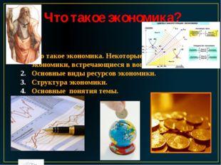 Что такое экономика? Что такое экономика. Некоторые понятия экономики, встреч