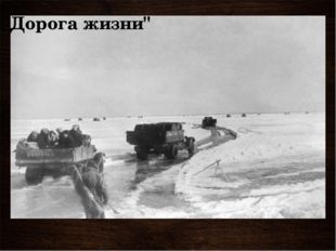 """Дорога жизни"""