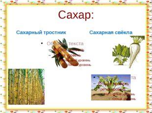 Сахар: Сахарный тростник Сахарная свёкла http://aida.ucoz.ru