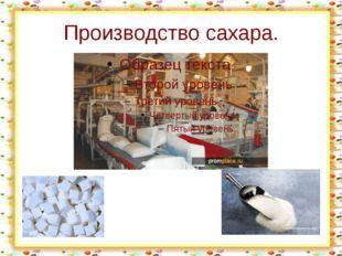 Производство сахара. http://aida.ucoz.ru