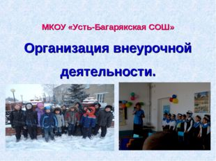 МКОУ «Усть-Багарякская СОШ» Организация внеурочной деятельности.