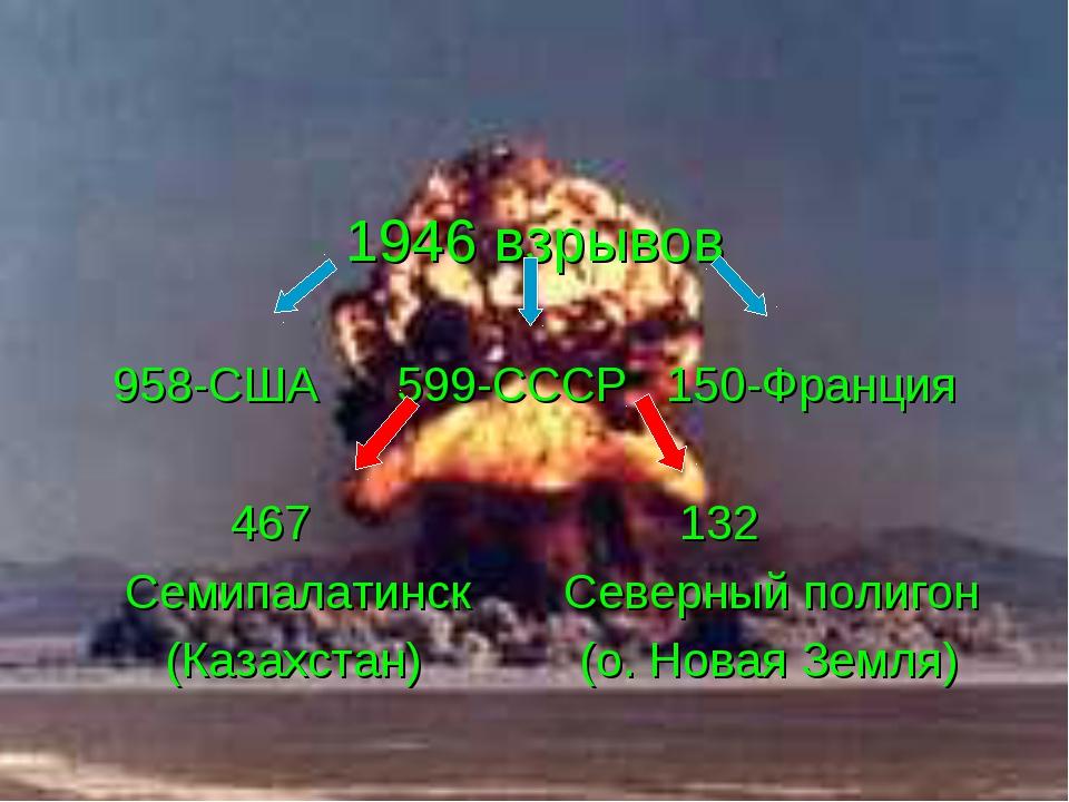 1946 взрывов 958-США 599-СССР 150-Франция 467 132 Семипалатинск Северный поли...