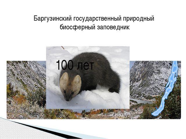 Баргузинский государственный природный биосферный заповедник 100 лет
