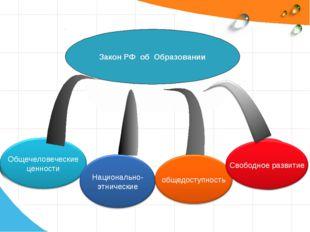 Закон РФ об Образовании