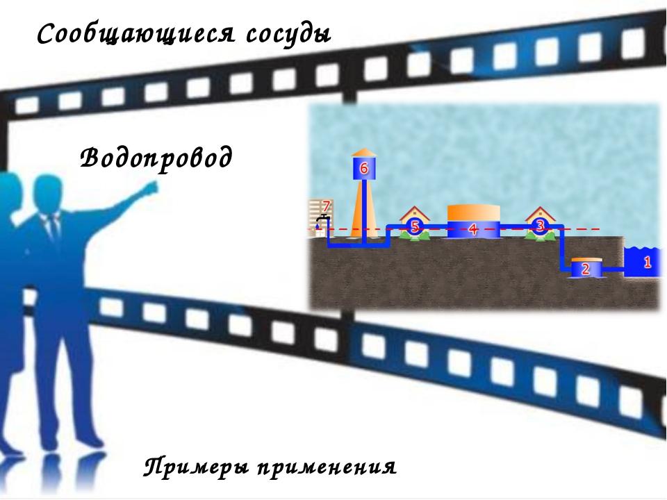 Сообщающиеся сосуды Примеры применения Водопровод