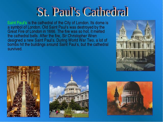Saint Paul's is the cathedral of the City of London. Its dome is a symbol of...