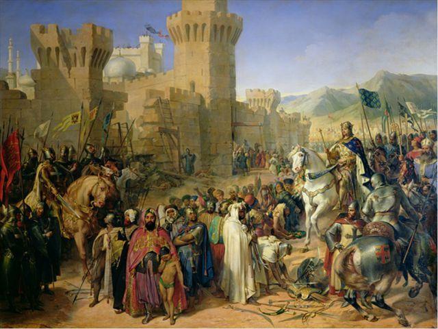 Первыми выступили немецкие рыцари. Английские и французские рыцари выступили...