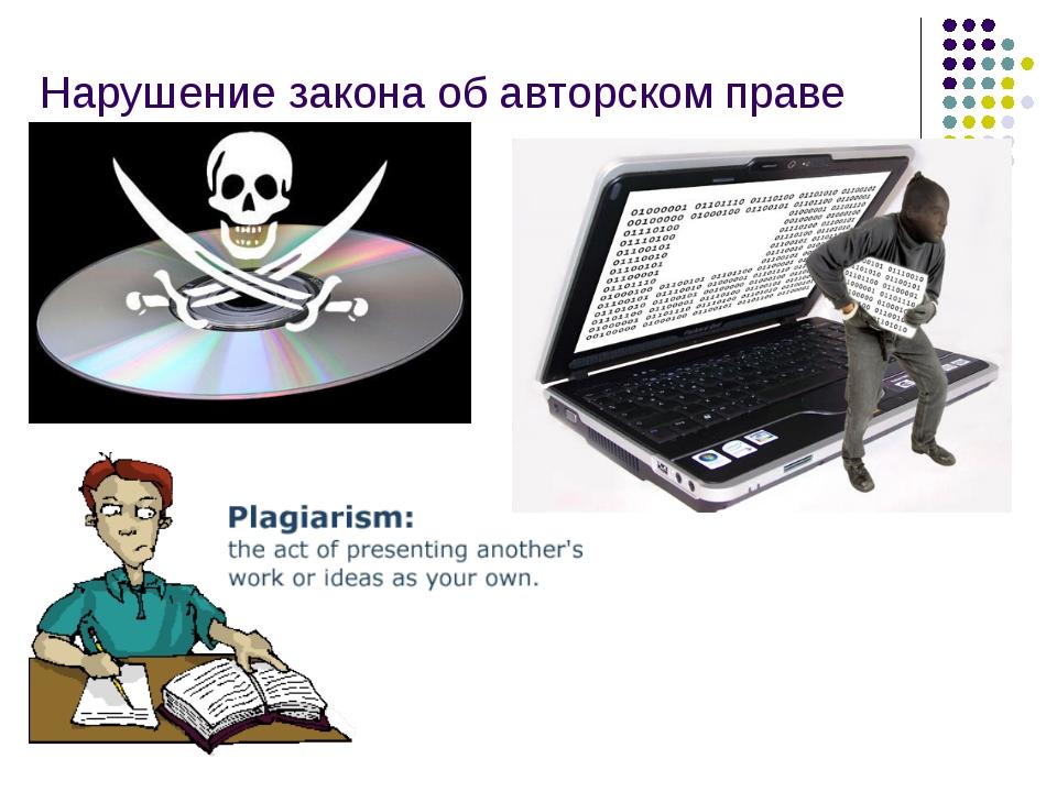 Нарушение закона об авторском праве