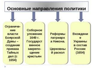 Ограниче-ние власти Боярской Думы – создание приказа Тайных дел (с 1654) Собо
