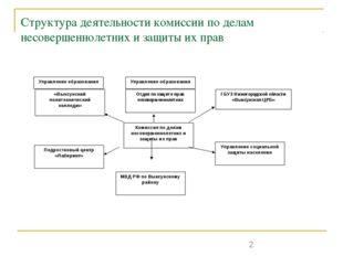 Структура деятельности комиссии по делам несовершеннолетних и защиты их прав
