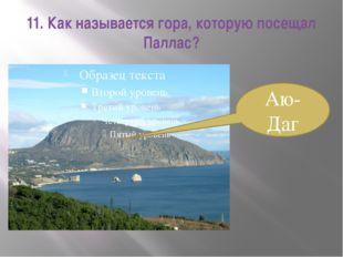 11. Как называется гора, которую посещал Паллас? Аю-Даг