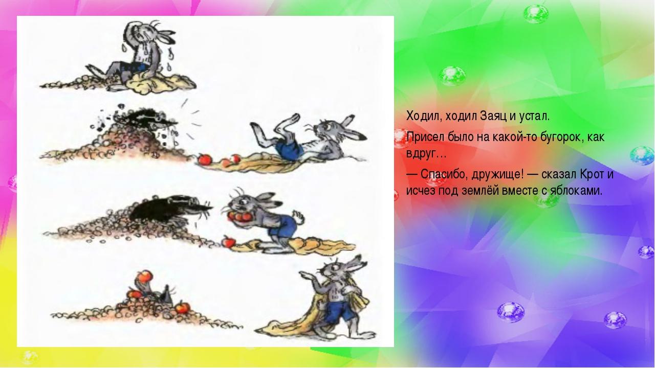 Ходил, ходил Заяц и устал. Присел было на какой-то бугорок, как вдруг… —Спас...