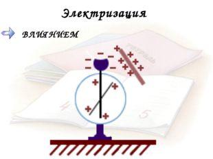 Электризация ВЛИЯНИЕМ