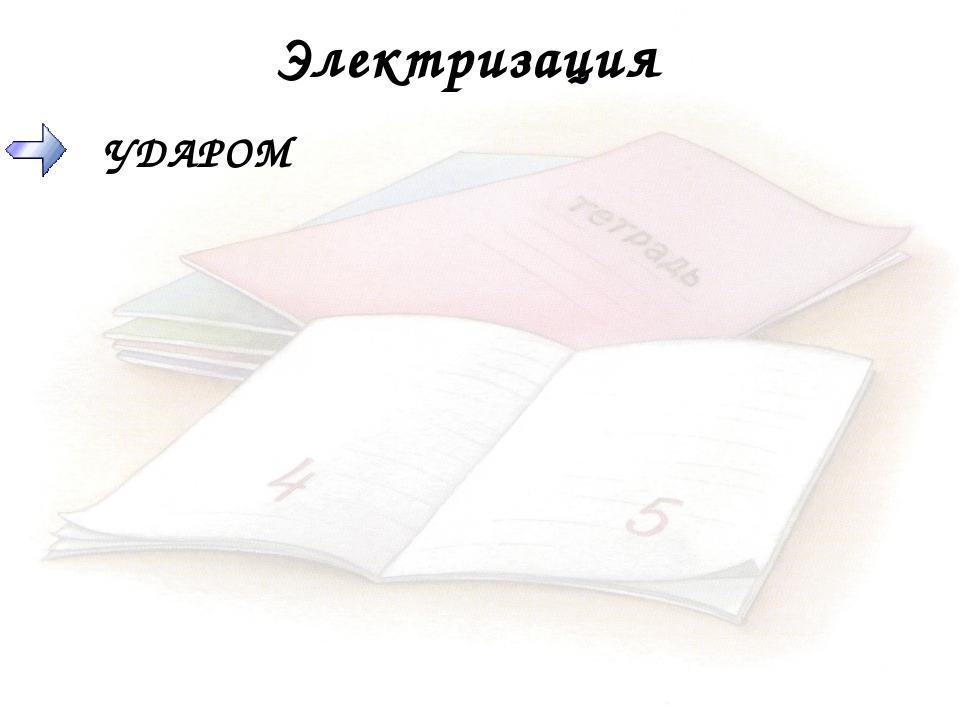 Электризация УДАРОМ