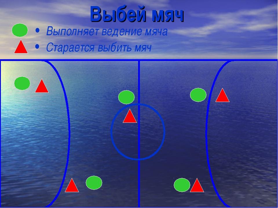 Выбей мяч Выполняет ведение мяча Старается выбить мяч