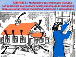 ПОМНИТЕ ! Надежная герметизация жилища значительно уменьшает возможность про