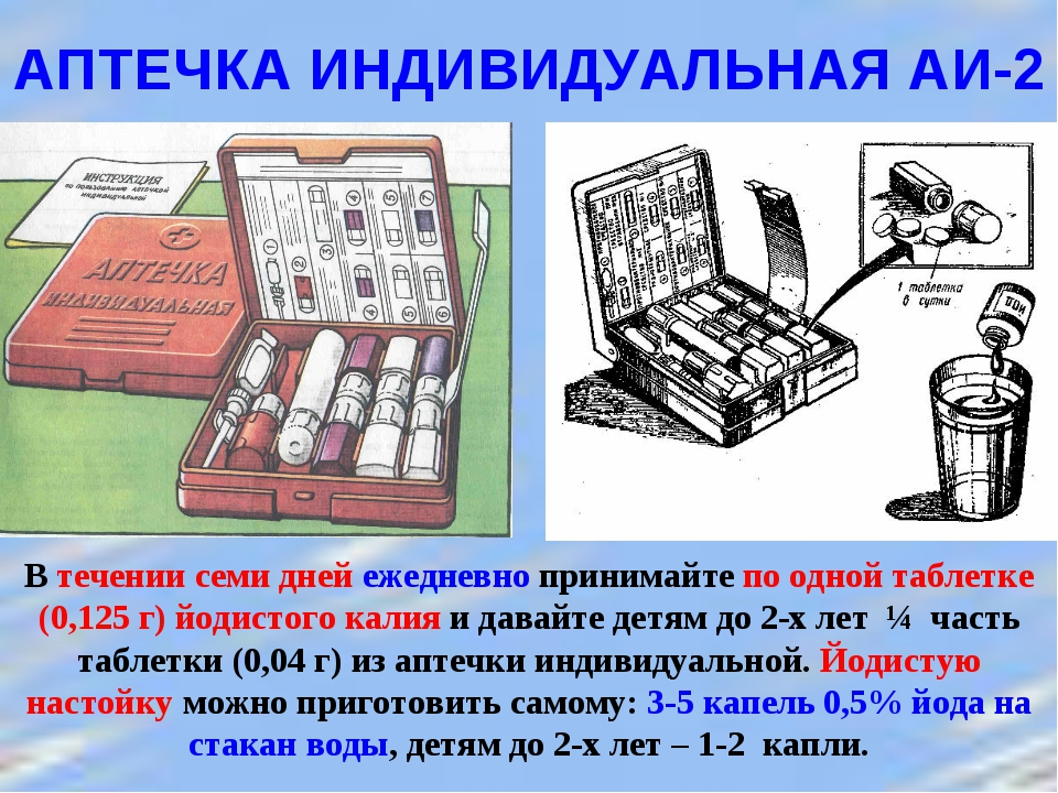 АПТЕЧКА ИНДИВИДУАЛЬНАЯ АИ-2  В течении семи дней ежедневно принимайте по одн...