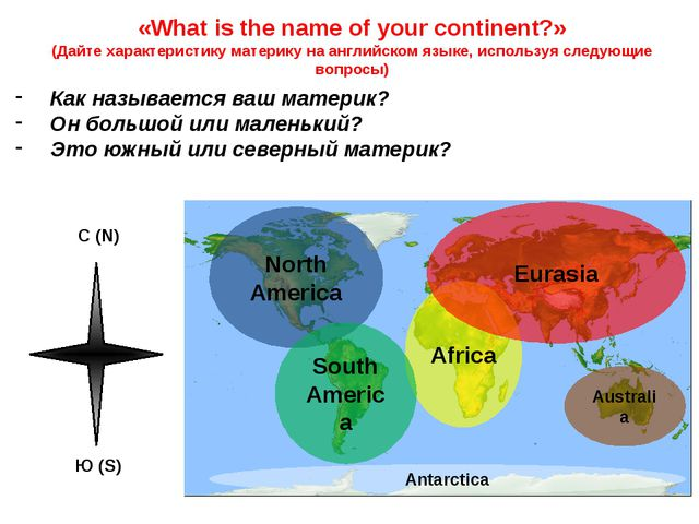North America «What is the name of your continent?» (Дайте характеристику мат...