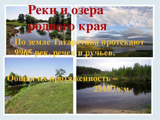 Реки и озера родного края. По земле Татарстана протекают 9965 рек, речек и ру...