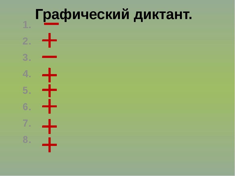1. 2. 3. 4. 5. 6. 7. 8. Графический диктант.