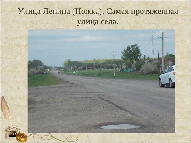 Улица Ленина (Ножка). Самая протяженная улица села.