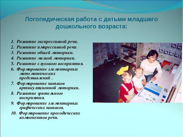 Логопедическая работа с детьми младшего дошкольного возраста: 1. Развитие эк...