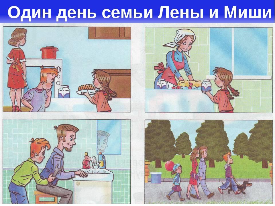 Один день семьи Лены и Миши