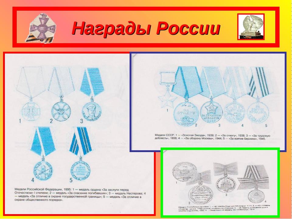 Награды России
