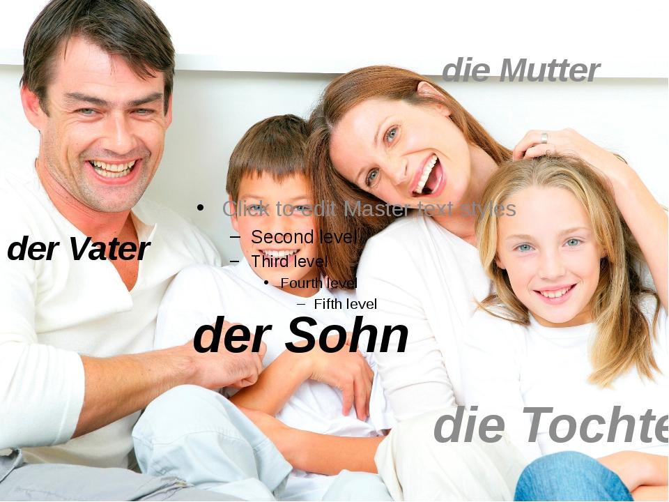 der Sohn der Vater die Mutter die Tochter