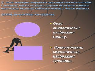 * 2). Облик некоторых мифических персонажей состоит из головы и туловища, взя