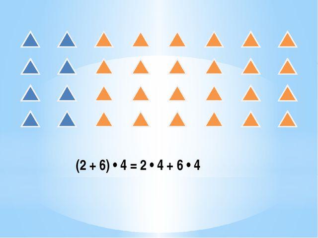 (2 + 6) • 4 = 2 • 4 + 6 • 4
