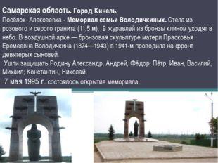 Самарская область. Город Кинель. Посёлок Алексеевка - Мемориал семьи Володичк