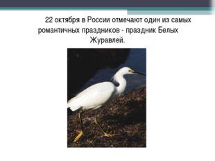 22 октября в России отмечают один из самых романтичных праздников - праздник