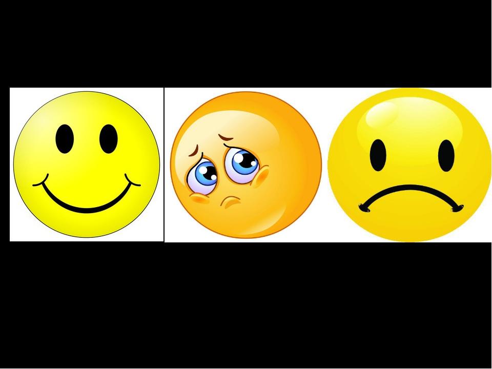 Персонифицированные символы I am fine I am so- so I am bad