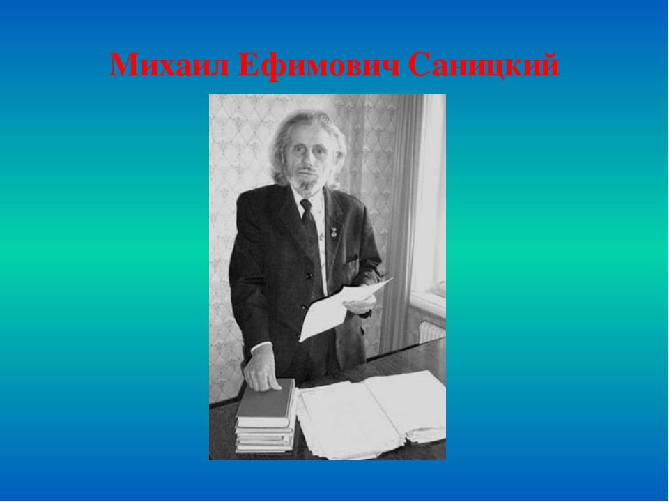 Михаил Ефимович Саницкий