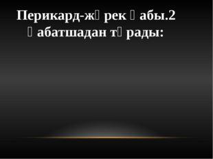 Перикард-жүрек қабы.2 қабатшадан тұрады: