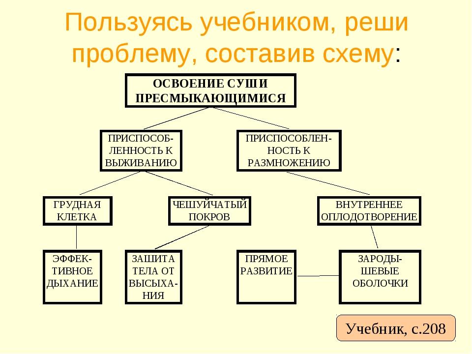 Пользуясь учебником, реши проблему, составив схему: Учебник с 208 Учебник, с....