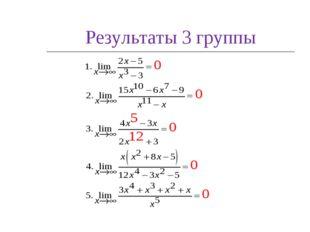 Результаты 3 группы