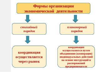 Формы организации экономической деятельности стихийный порядок планомерный по