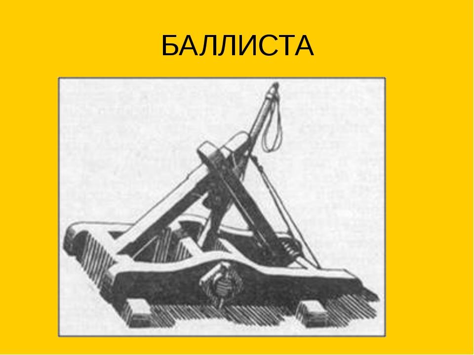 БАЛЛИСТА