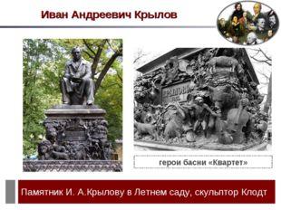 Иван Андреевич Крылов герои басни «Квартет»
