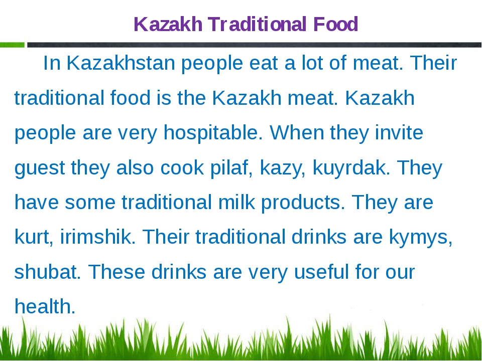 Kazakh Traditional Food In Kazakhstan people eat a lot of meat. Their traditi...