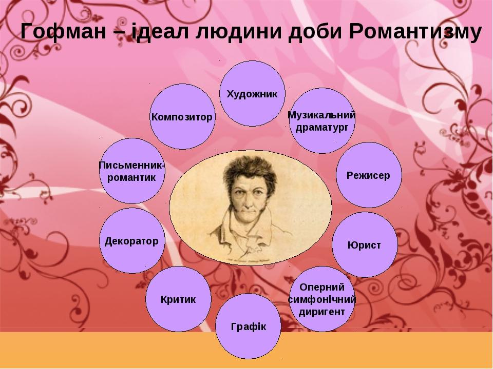 Гофман – ідеал людини доби Романтизму