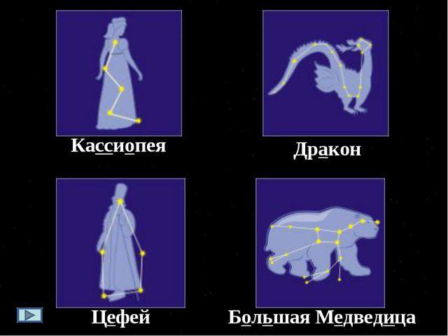 Кассиопея Большая Медведица Цефей Дракон