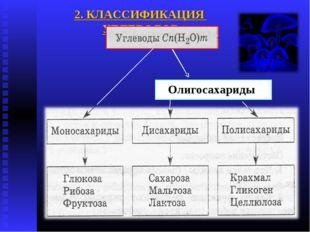 2. КЛАССИФИКАЦИЯ УГЛЕВОДОВ Олигосахариды
