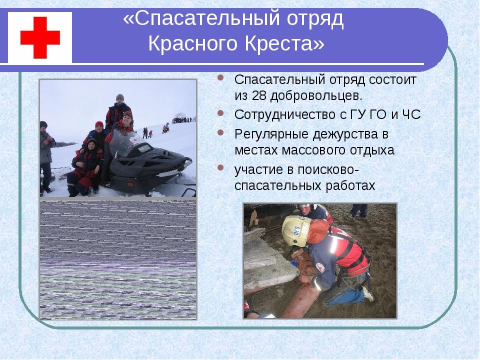 «Спасательный отряд Красного Креста» Спасательный отряд состоит из 28 доброво...